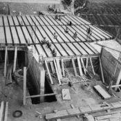Imagen de las primeras obras de construcciones Canto