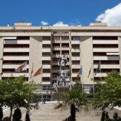 Foto de la reforma de la plaza Rosaleda ubicada en Alcoy