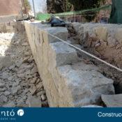 Ejemplo de construcción de un chalet de piedra en Alcoy