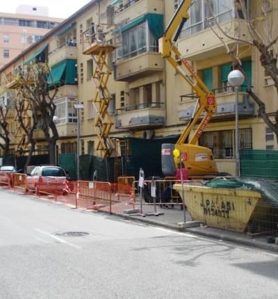 Rehabilitación fachada barrio jose antonio de alicante